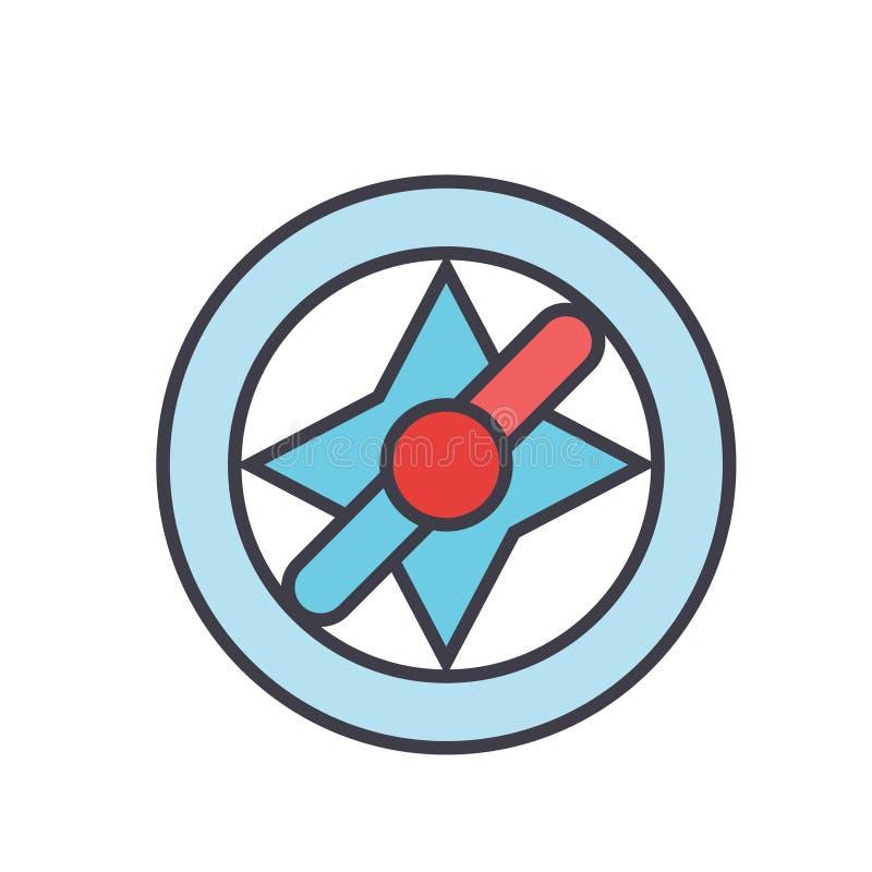 Kompas, navigatieconcept stock illustratie