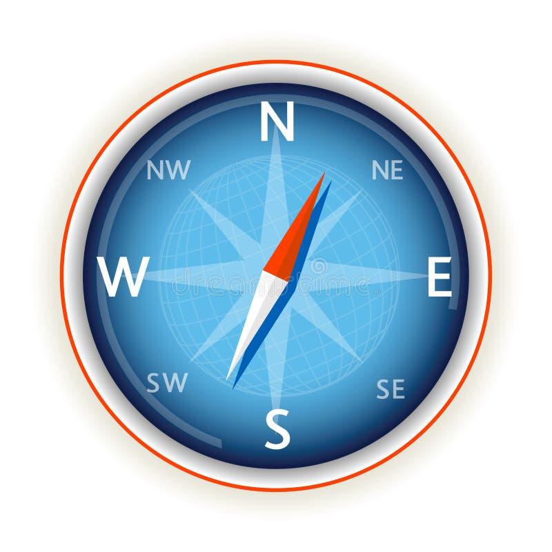 Kompas op wit royalty-vrije illustratie