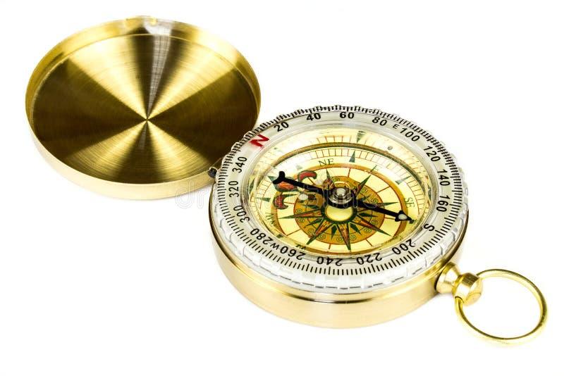 Kompas op wit wordt geïsoleerd dat royalty-vrije stock foto