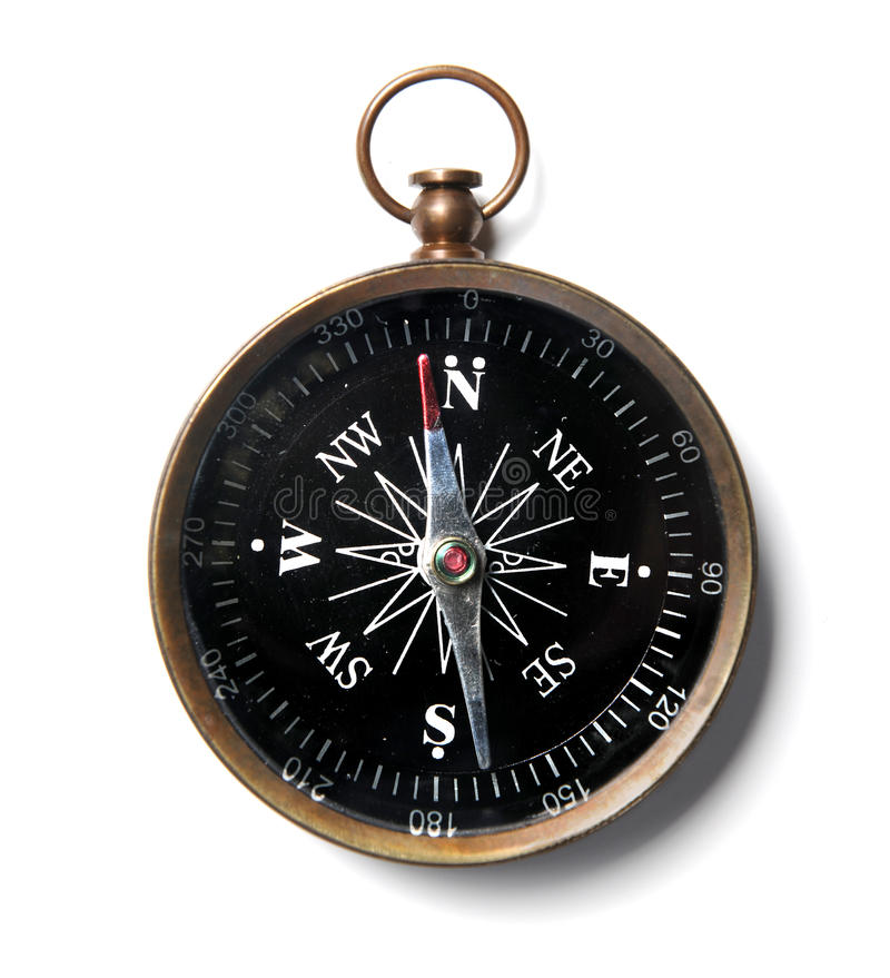 Kompas over Witte Achtergrond stock foto