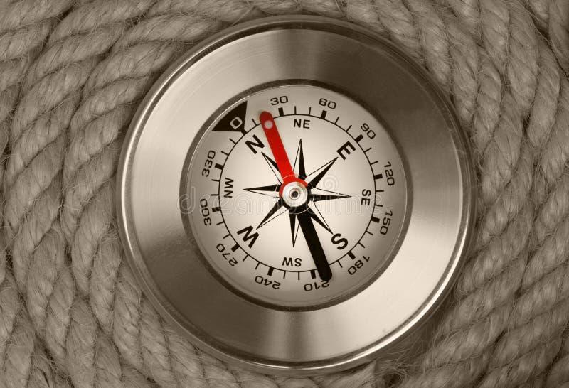 Kompas przy statek arkan tłem obrazy stock