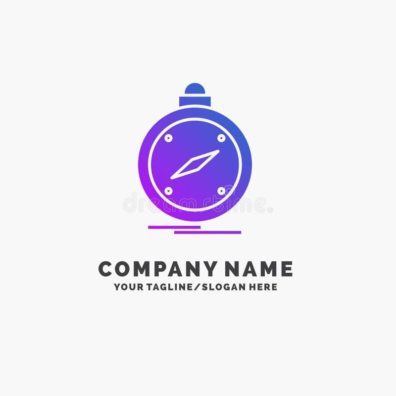kompas, richting, navigatie, gps, plaats Purpere Zaken Logo Template Plaats voor Tagline vector illustratie