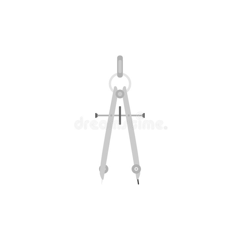 Kompas szkolna ikona Biały tło również zwrócić corel ilustracji wektora 10 eps ilustracja wektor