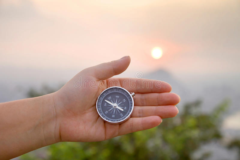 Kompas ter beschikking stock foto's