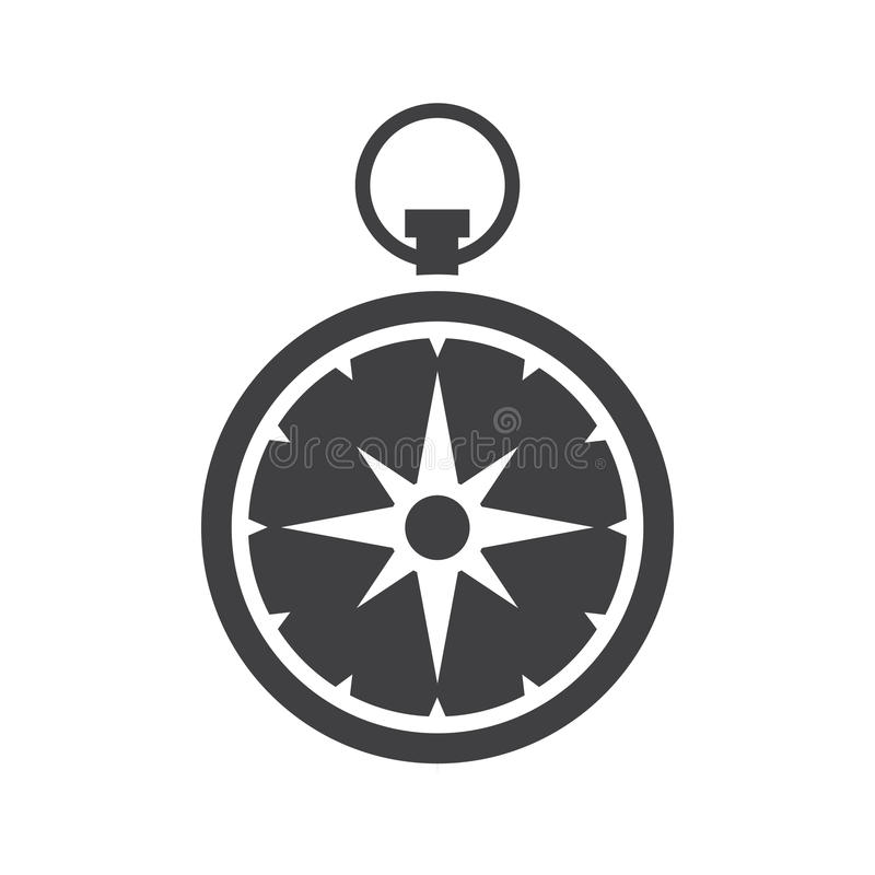 Kompas vectorpictogram vector illustratie