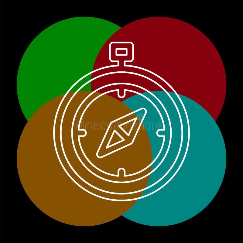 Kompas vectorpictogram royalty-vrije illustratie