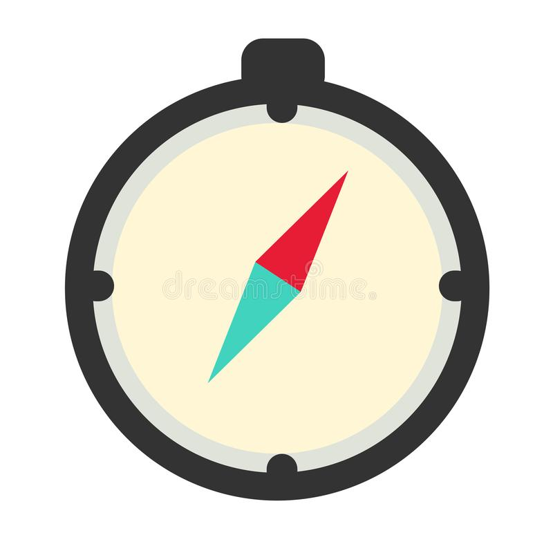 Kompas vlak pictogram royalty-vrije illustratie