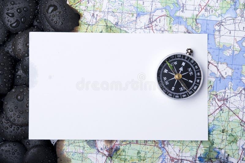 Kompas z skałą fotografia stock