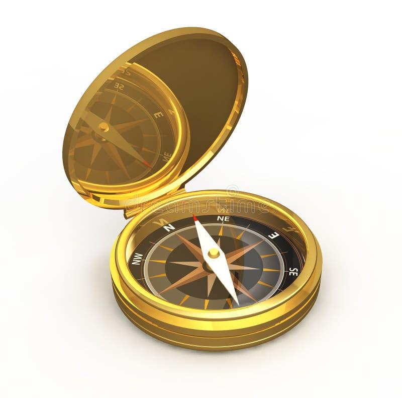 Kompass-Gold stock abbildung