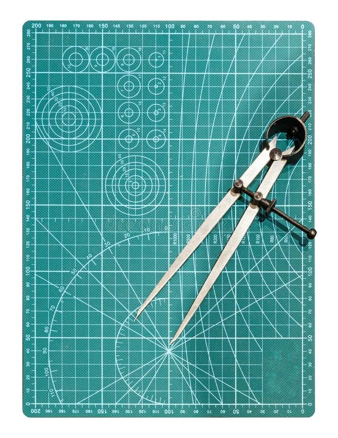 Kompass i teckning stock illustrationer