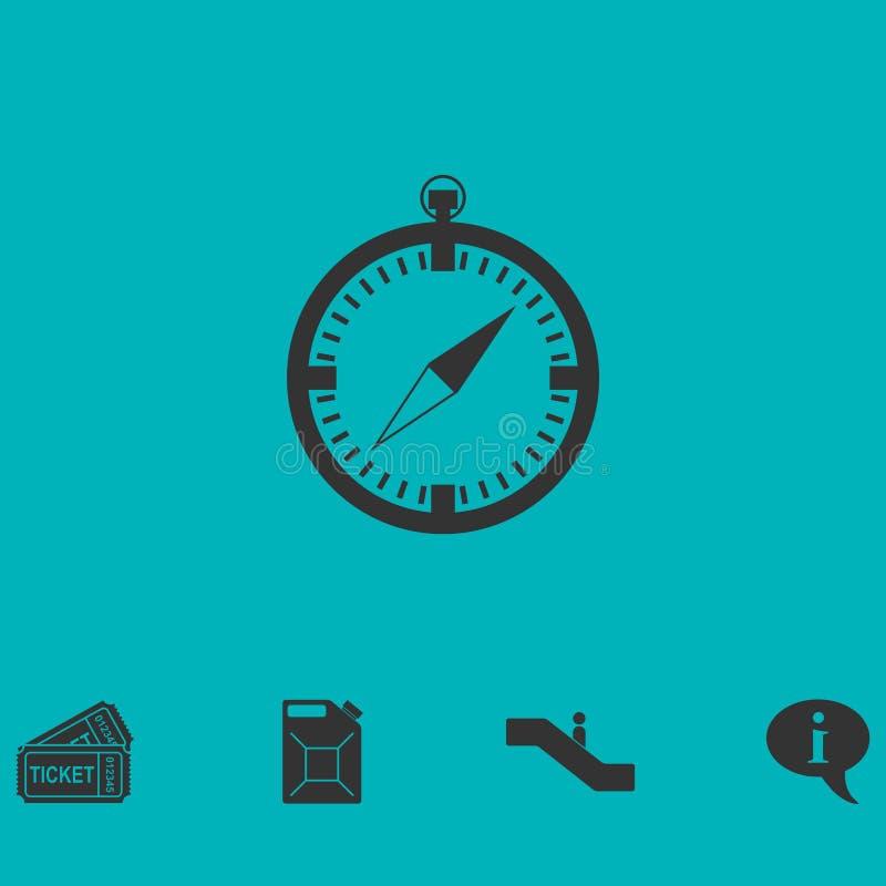 Kompass-Ikone flach vektor abbildung