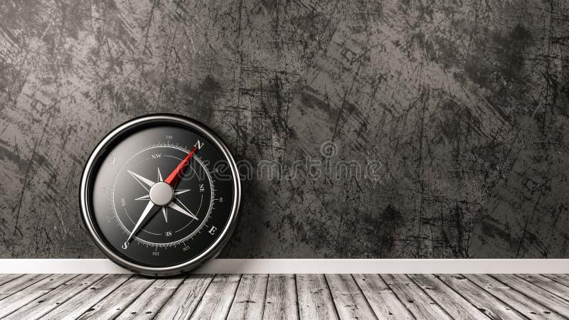 Kompass im Raum mit Copyspace stock abbildung