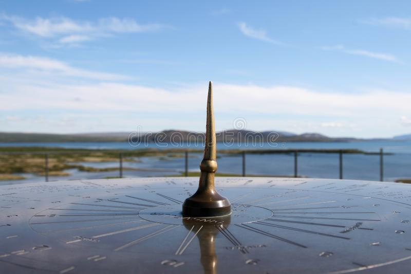 Kompass Island lizenzfreie stockfotos