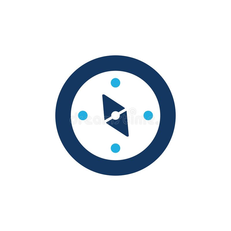 Kompass Logo Icon Design vektor illustrationer