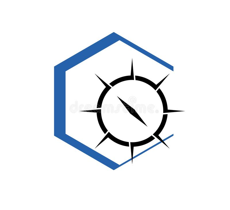Kompass Logo Template Standort, Navigator vektor abbildung