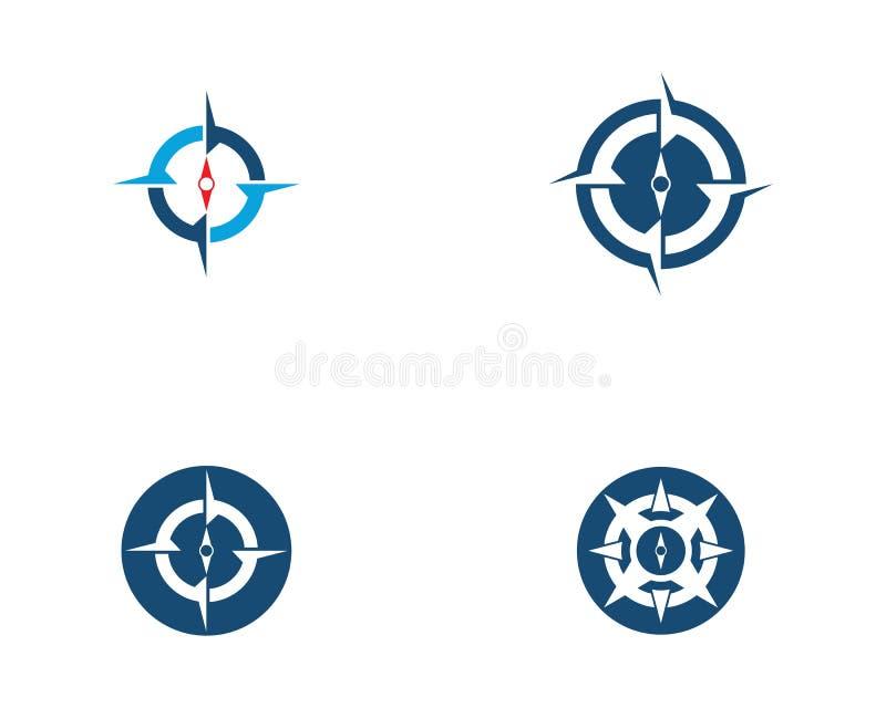 Kompass-Logo Template-Vektorikone stock abbildung