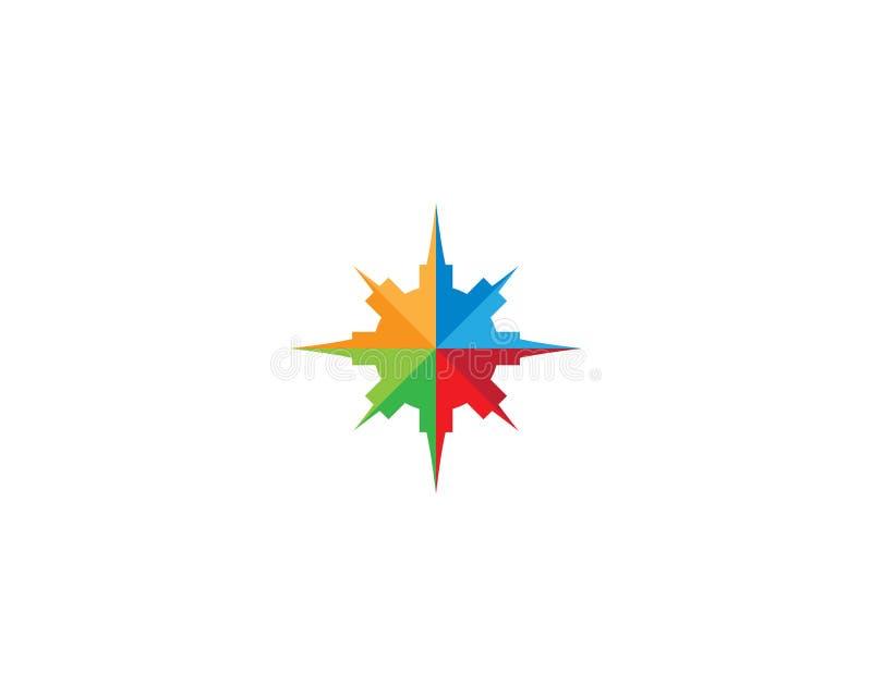 Kompass Logo Template lizenzfreie abbildung