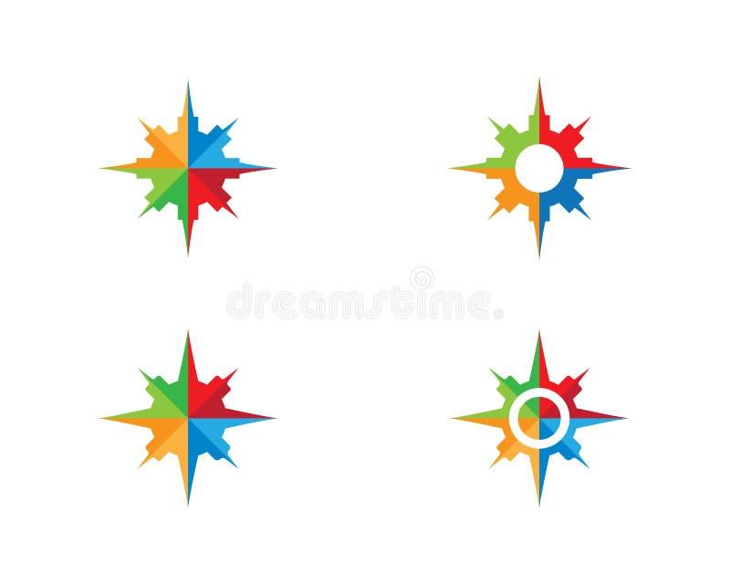 Kompass Logo Template stock abbildung