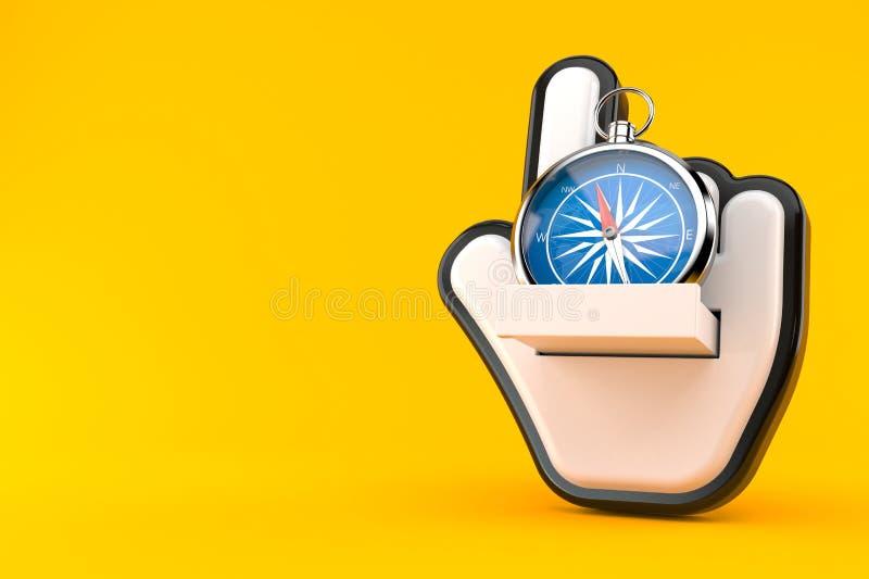 Kompass med markören stock illustrationer
