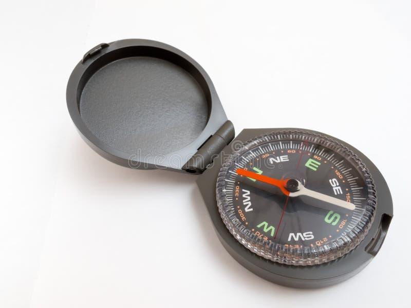Kompass mit Deckel stockfotos