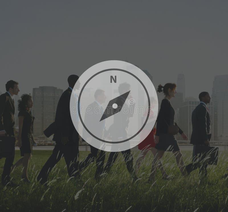 Kompass-Navigation entdecken Führer-Reise-Konzept lizenzfreie stockbilder