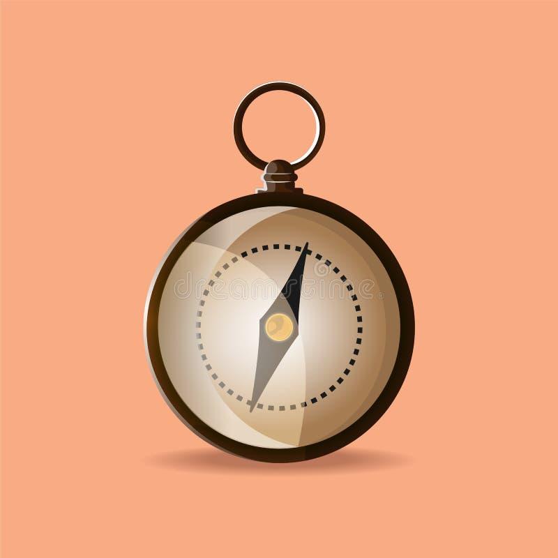Kompass också vektor för coreldrawillustration stock illustrationer