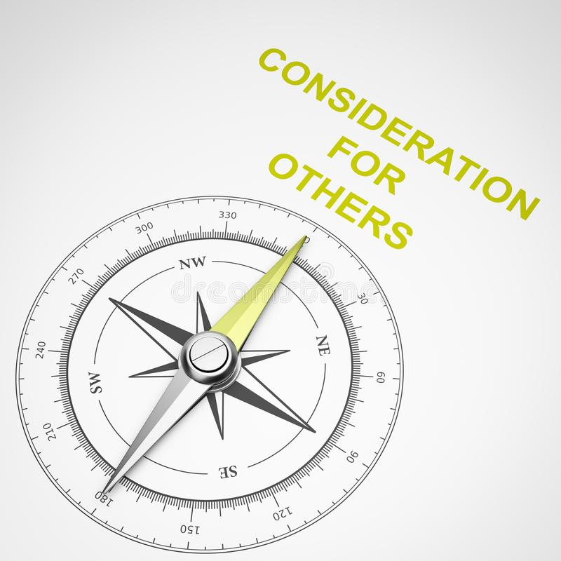 Kompass på vit bakgrund, övervägande för andra begrepp vektor illustrationer