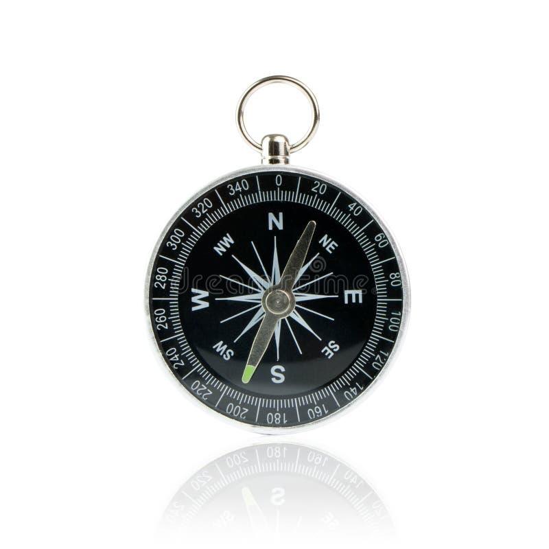 Kompass på vit bakgrund arkivbilder