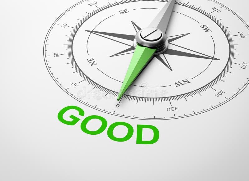Kompass på vit bakgrund, bra begrepp stock illustrationer