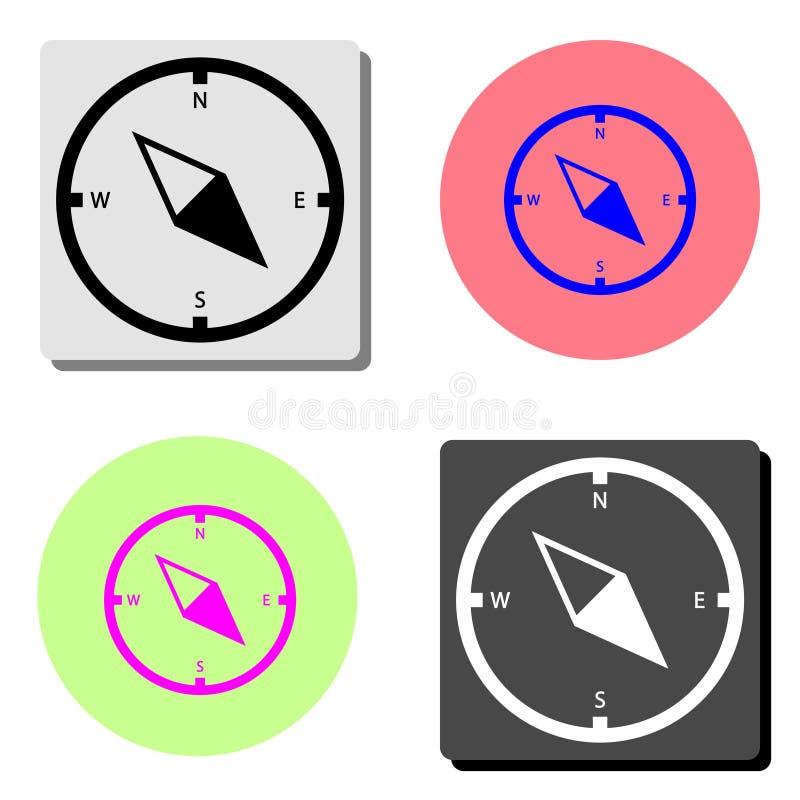 Kompass Plan vektorsymbol royaltyfri illustrationer