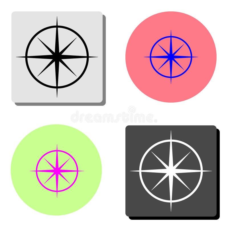 Kompass Plan vektorsymbol stock illustrationer