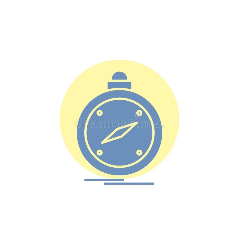 Kompass, Richtung, Navigation, gps, Standort Glyph-Ikone vektor abbildung