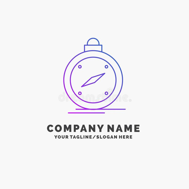 Kompass, Richtung, Navigation, gps, Standort purpurrotes Geschäft Logo Template Platz f?r Tagline stock abbildung