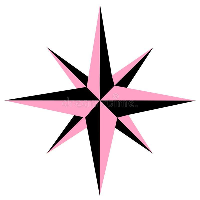 Kompass Rose Star Icon Vector Logo stock abbildung