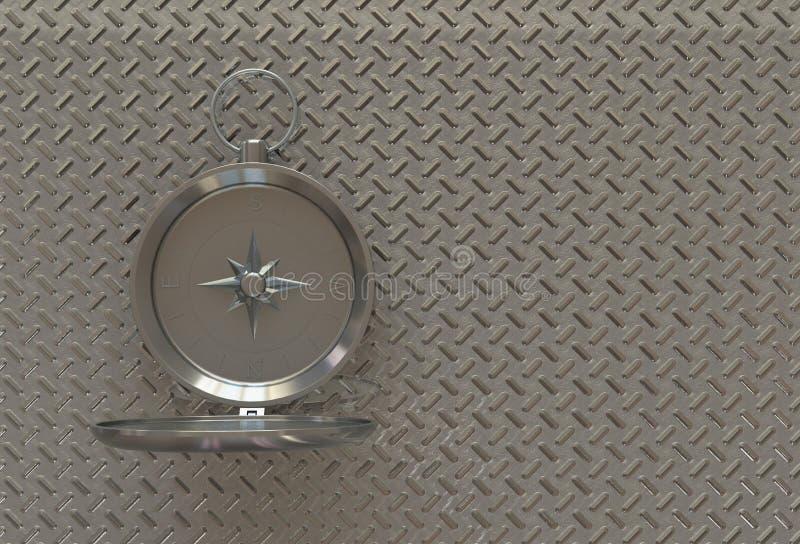 Kompass som isoleras på tabellen vektor illustrationer
