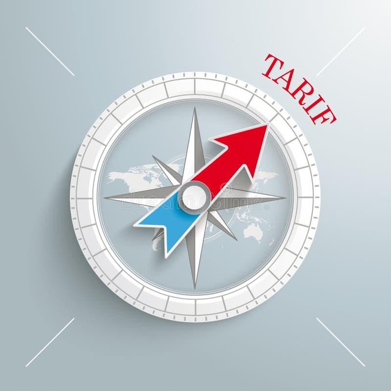 Kompass Tarif vektor illustrationer