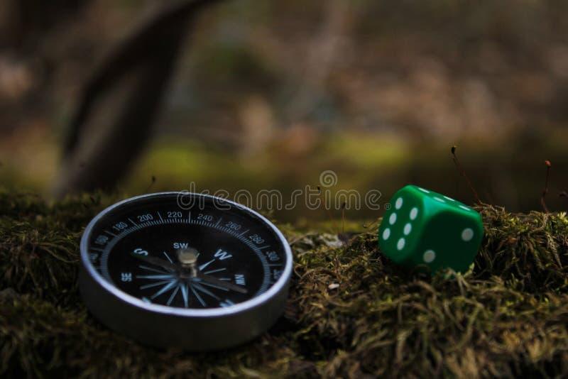 Kompass und Knochen stockfotos