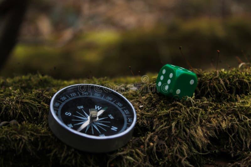 Kompass und Knochen stockbilder