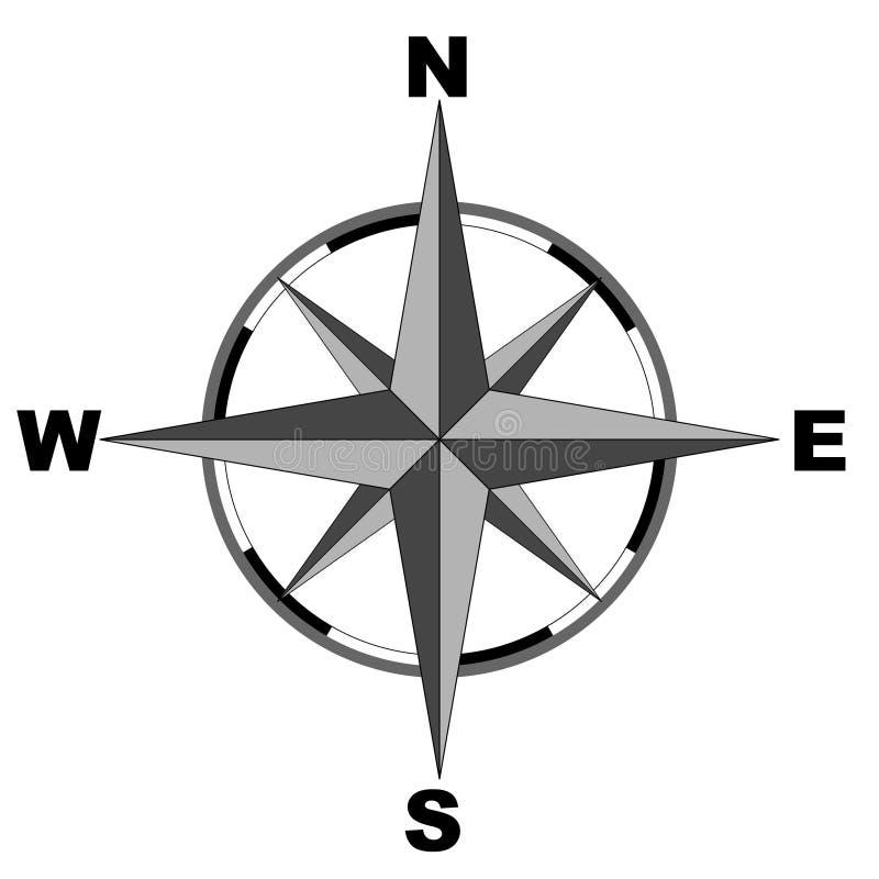 Kompass (vektor) stock illustrationer