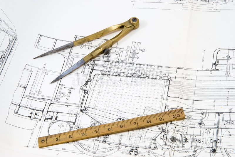 kompassdesignteckning arkivfoto