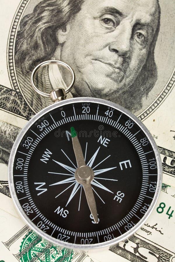 kompassdollar royaltyfri bild