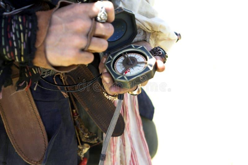 kompasset piratkopierar royaltyfri foto