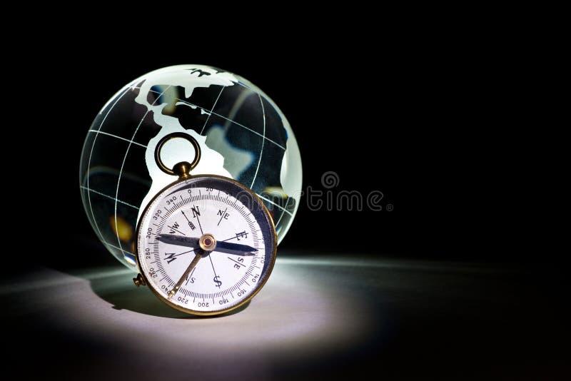 kompassjordklot fotografering för bildbyråer