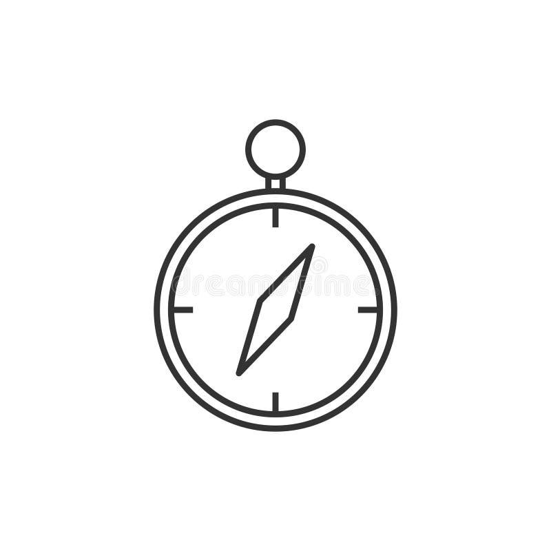 Kompasslinje symbol stock illustrationer