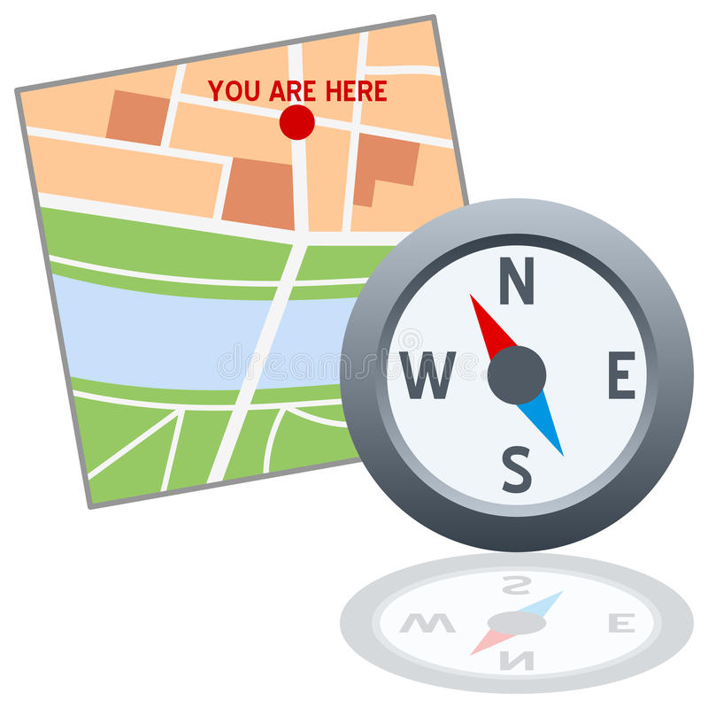kompasslogoöversikt vektor illustrationer