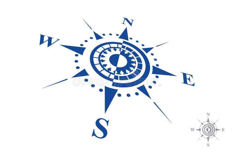 Kompasslogo som isoleras på vit bakgrund vektor illustrationer