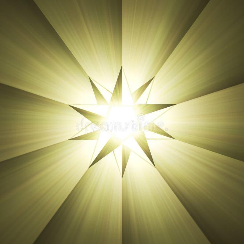Kompassstern-Lichtaufflackern mit acht Punkten lizenzfreie abbildung