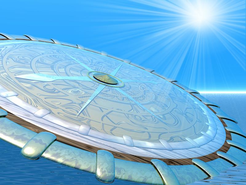 kompassstrålar royaltyfri illustrationer