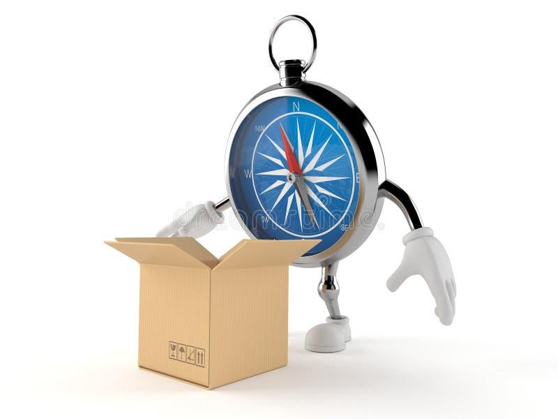Kompasstecken med den öppna asken stock illustrationer