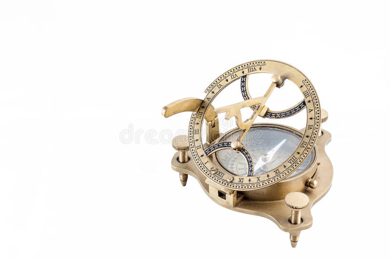 kompasu sundial odosobniony nautyczny stary zdjęcia royalty free